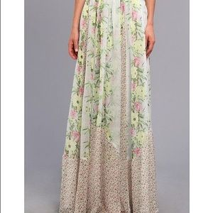 French Connection floral maxi skirt